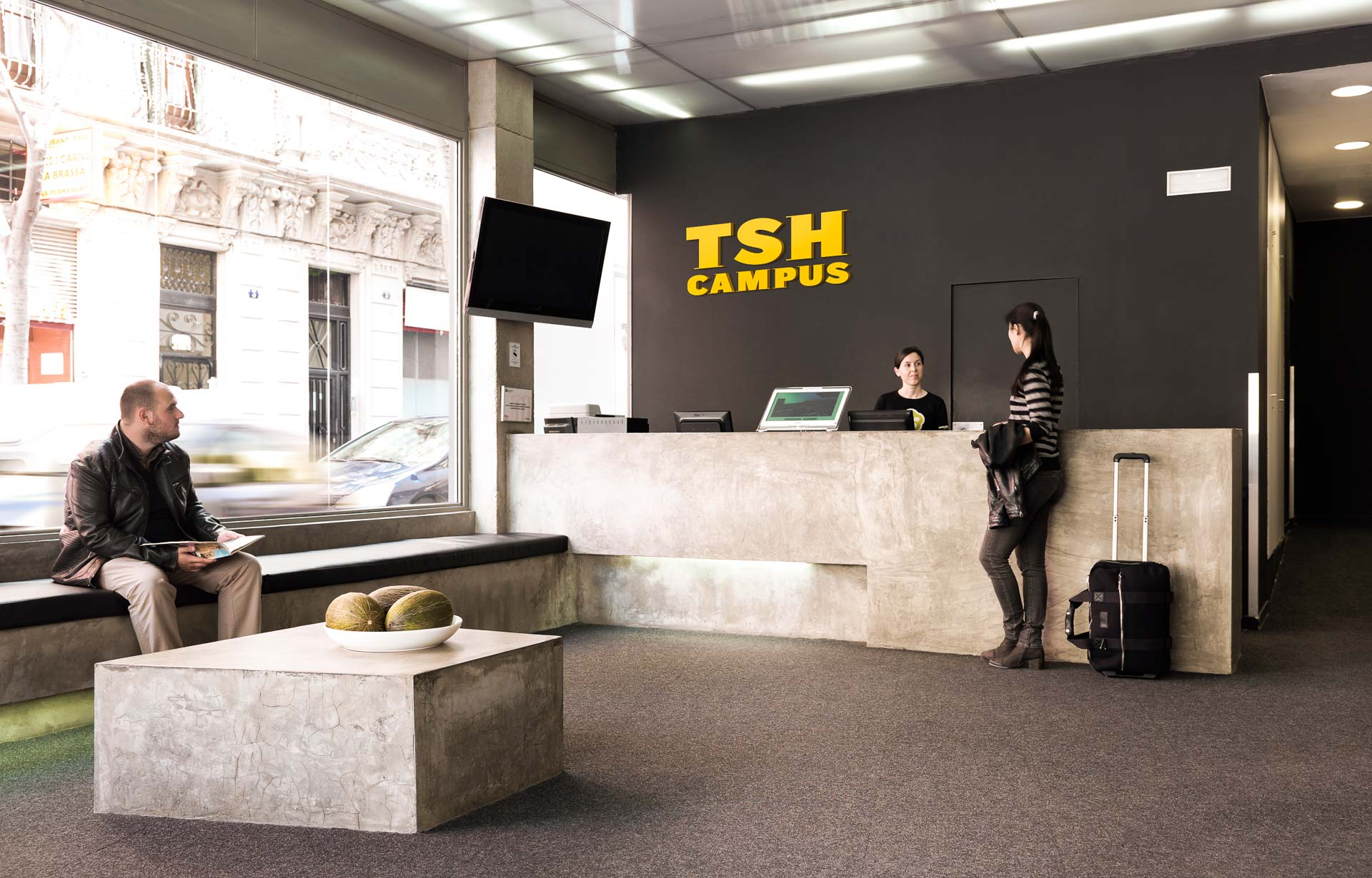 TSH campus reception and lounge area