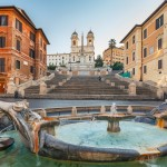 Spanish Steps at morning, Rome, Italy
