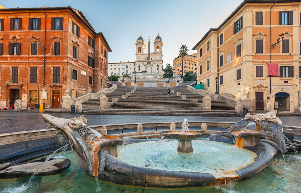 Spanish Steps at morning, Rome